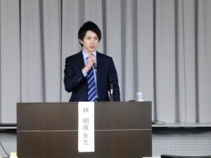 コロプラスト主催のスキンケアセミナー講演の様子 delivering a lecture at the skin care seminar Tokyo(@Yaesu, Jul 22)