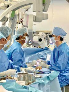 オーストラリアからの訪問 手術中