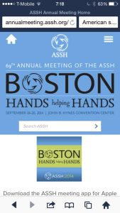 69th American society of Hand Surgery Annual congress@Boston ボストン 第69回アメリカ手外科学会 BOSTON 69th ANNUAL MEETING OF THE ASSH