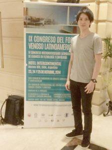 南米静脈学会にて発表 In front of the sign of the ⅨCONGRESO DEL FORUM VENOSO LATINOAMERICANO@Buenos Aires