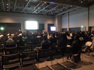 第17回 日本褥瘡学会学術集会シンポジストとして登壇中の会場様子 Delivering a lecture at the 17th Annual Congress of Japanese Society of Pressure Ulcers @ Sendai