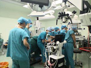 中国福建省での招聘手術 手術室での様子