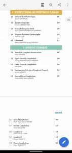 リンパ浮腫の手術に関する英語の教科書