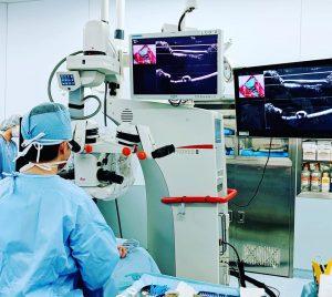 175件のリンパ浮腫手術 手術中