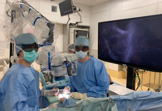 2021年最初の招聘手術 手術中の様子